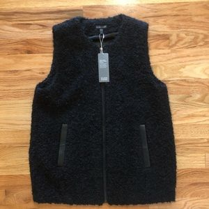 NWT Eileen Fisher Boucle Shearling Vest